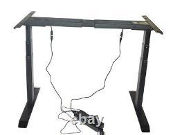 Electric Desk Frame Height Adjustable Dual Motor Sit-Stand Desk Legs 49 H 70 W