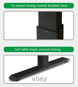 Electric Desk Frame Height Adjustable Motorized Sit Stand Desk Legs Black