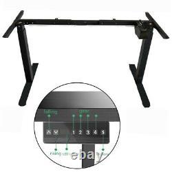 Electric Desk Frame Height Adjustable Motorized Sit Stand Desk Legs Black A3