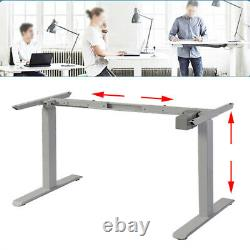 Electric Desk Frame Height Adjustable Motorized Sit Stand Desk Legs GRY UA
