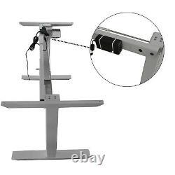 Electric Desk Frame Height Adjustable Motorized Sit Stand Desk Legs Silver-Grey
