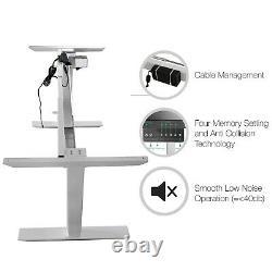 Electric Desk Frame Height Adjustable Motorized Sit Stand Desk Legs White