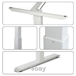 Electric Desk Frame Height Adjustable Motorized Sit Stand Desk Legs White US