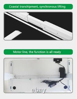 Electric Desk Frame Height Adjustable Motorized Sit Stand Desk Legs White US H2