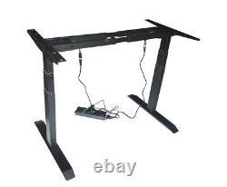 Electric Dual motor Adjustable Base Height Sit-Stand Desk Frame 100-240V Office