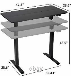 Electric Height Adjustable Standing Desk, Large Sit Stand Up Computer Desk