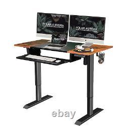 Electric Height Adjustable Standing Desk Sit Stand Workstation Computer Desk