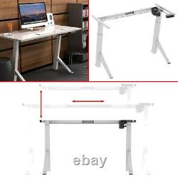 Electric Motor Angle Height Adjustable Sit Stand Desk Frame Home Office Study