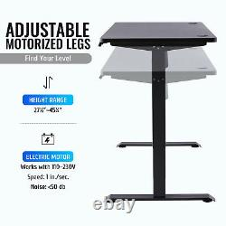 Electric Sitting and Standing Desk Frame with Adjustable Height and Width Black