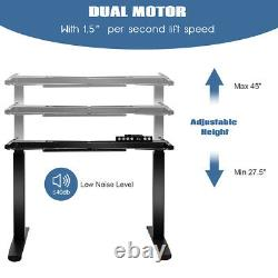 Electric Stand Up Desk Frame Dual Motor Height Adjustable Sit Stand withController