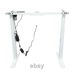 Electric Stand Up Desk Frame Height and Width Adjustable Sit Stand Standing Desk