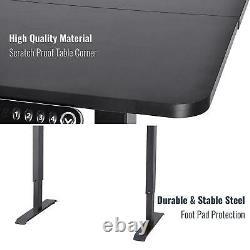 Electric Standing Desk Height Adjustable Desk Large Sit Stand Up Computer Desk