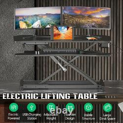 Electric Standing Desk Height Adjustable Monitor Riser Tabletop Sit to Stand