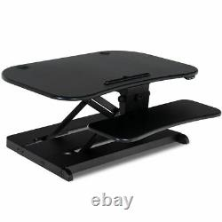 Electric Standing Desk Height Adjustable Tabletop Sit To Stand Riser Monitor New