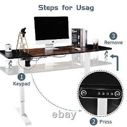 Electric Table Lift Desk Frame Sit-Stand Single Motor Adjustable Height Width