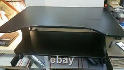 Ergonomic Black Height Adjustable Standing Desk Sit Stand Elevating Riser Desk