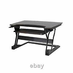 Ergotronhome Workspace Life 35 Sit Or Stand Adjustable Desk, Java Distressed Pk