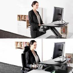 Eureka Ergonomic Height Adjustable 31.5 Inch Sit Stand Desk Converter