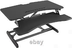 FEZIBO Standing Desk Converter, Stand up Desk Riser, Sit Stand Desk Adjustable H