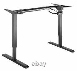 FOREST Black Electric Standing Desk/Height Adjustable Sit Stand Workstation