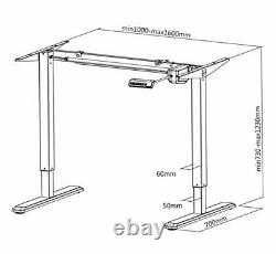 FOREST White Electric Standing Desk/Height Adjustable Sit Stand Workstation