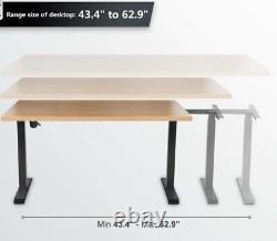 Fezibo Single motor adjustable height sit/stand workstation desk base