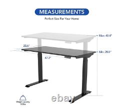 FlexiSpot EC9B Black Electric Adjustable Sit Stand Desk 48 x 24 Home Office