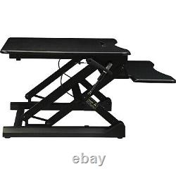 Gas Lift Monitor Riser Table Top Sit to Stand Desk Adjustable Height Workstation