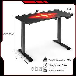 Gymax Electric Standing Gaming Desk Sit to Stand Height Adjustable Splice Board