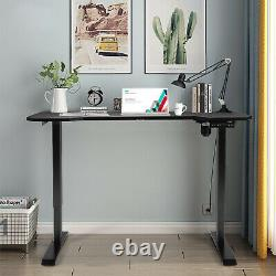 Gymax Electric Standing Gaming Desk Sit to Stand Height Adjustable Table Black