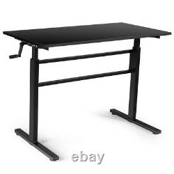 Gymax Standing Desk Height Adjustable Sit To Stand Workstation WithCrank Handle