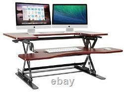 Halter ED-258 Preassembled Height Adjustable Desk Sit/Stand Desk Elevating De