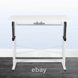 Height Adjustable (27.25-35.75H) Sit to Stand Home Office Desk