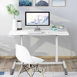 Height Adjustable Computer Desk Sit to Stand Rolling Notebook Table Portable New