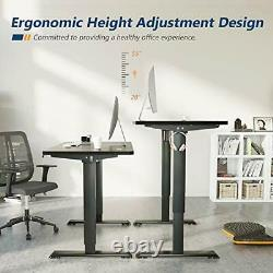 Height Adjustable Electric Standing Desk, 55 x 28 Inches Sit 55 inch Black