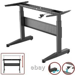 Height Adjustable Sit Stand Desk Frame Mobile Gas Lift Office Home Workstation