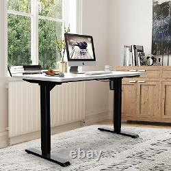 Height Adjustable Standing Desk Frame Sit Stand Up Desk Workstation WithO Top