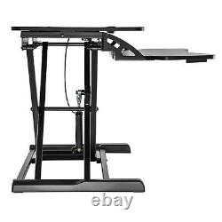 Height Adjustable Standing Desk Monitor Riser Tabletop Sit to Stand Workstation