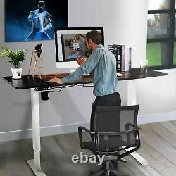 Height Width Adjustable Electric Table Lift Desk Frame Sit-Stand Single Motor