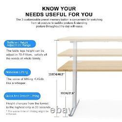 Hi5 Rectangular Electric Height Adjustable Sit Standing Desk 14070cm (UK Plug)