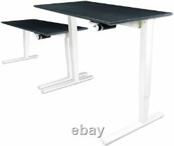 Humanscale Height Adjustable Sit-Stand Float Desk Base Top Removable Crank