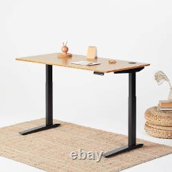 Jarvis Standing Desk Bamboo Top Electric Adjustable Height Sit Stand Desk 2