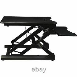 Lorell Sit-to-stand Gas Lift Desk Riser Black