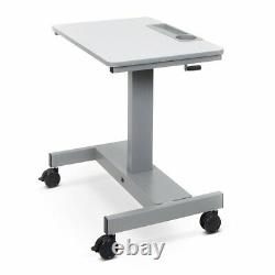 Luxor STUDENT-C 29 to 42-Inch Adjustable Sit Stand Desk with Crank Handle