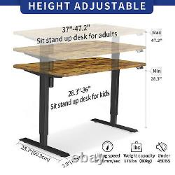 MAIDeSITe 55 Standing Desk Electric Adjustable Height Sit Stand Up Desk USB