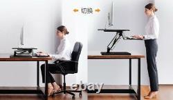 Max Pneumatic Sit-to-Stand Adjustable Single Column Riser Desk Converter