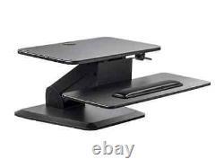 Monoprice Adjustable Gas Spring Sit Stand Riser Table/Desk Converter Black
