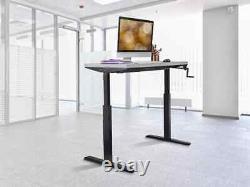 Monoprice Adjustable Sit Stand Table Desk Frame Black For Desktops Up To 63in