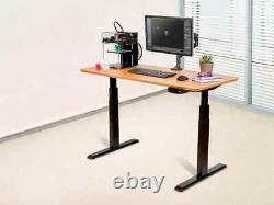 Monoprice Adjustable Sit Stand Table Desk Frame Black For Desktops Up To 87in