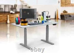 Monoprice Adjustable Sit Stand Table Desk Frame Grey With Electric Dual Motor